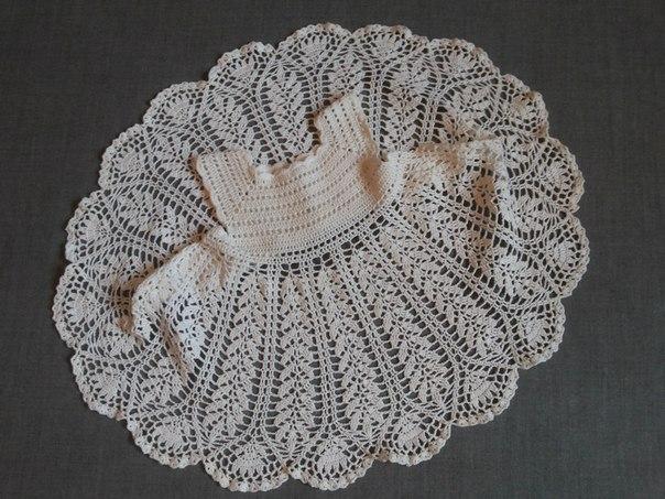 Вязание крючком схемы кокеток для платьев